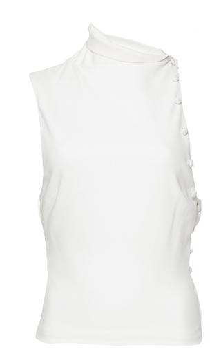 Medium mulhier white asymmetrical top