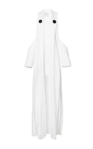 Medium mulhier white cold shoulder long vest