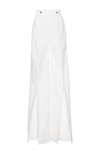 Medium mulhier white high waisted split pants