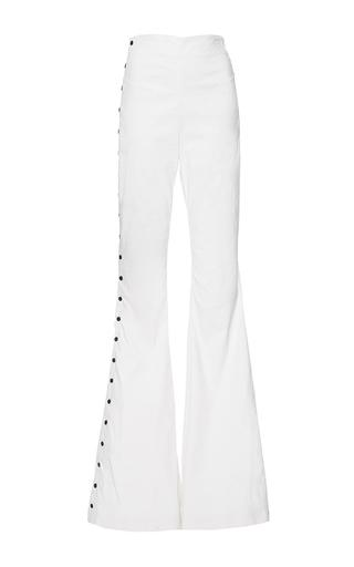 Medium mulhier white contrast stud embellished pants