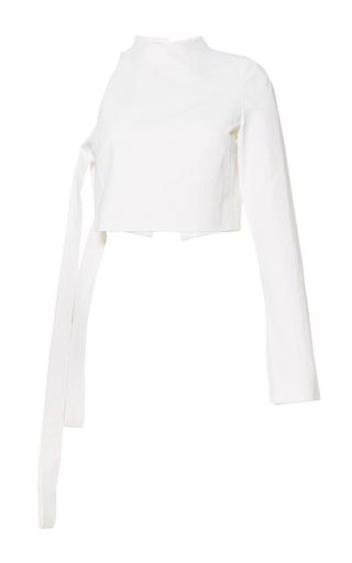 Medium mulhier white single long sleeve top