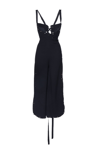 Medium mulhier black stud embellished wide leg jumpsuit