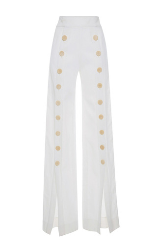 Medium mulhier white split leg overalls