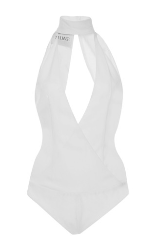 Medium mulhier off white v neck turtleneck bodysuit