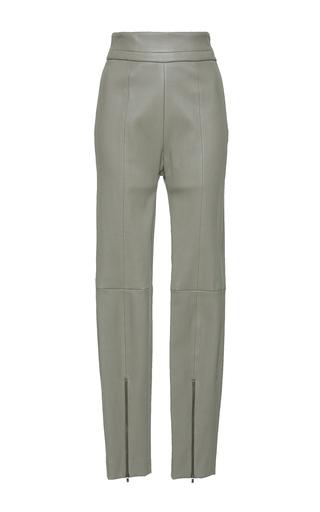 Medium mulhier tan high waist leather pants