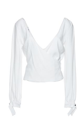 Medium mulhier white v neck wrap top