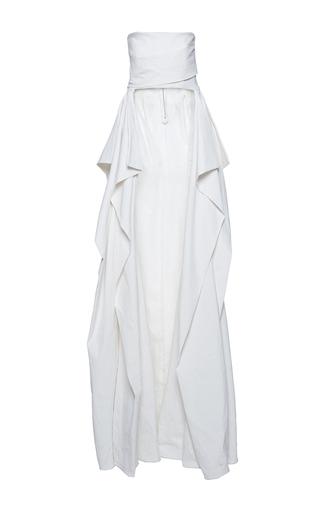 Medium mulhier white floor length bustier top