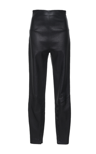 Medium mulhier black high waisted leather skinny pants