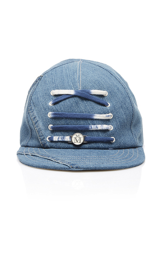 Medium maison michel blue nick lace up baseball cap