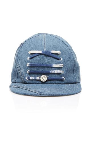 Medium maison michel blue nick lace up baseball cap