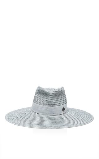Medium maison michel light grey pina canapa shine hat