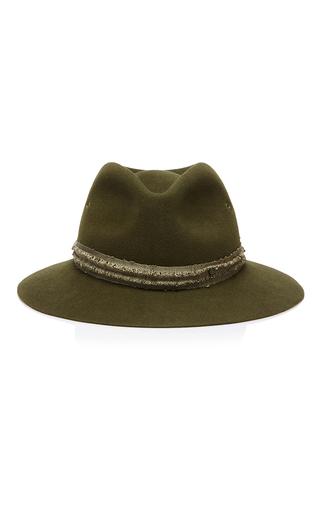 Medium maison michel green rico embellished hat
