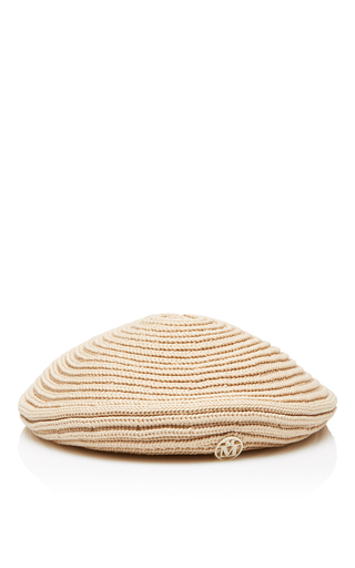 Medium maison michel tan tal knit beret
