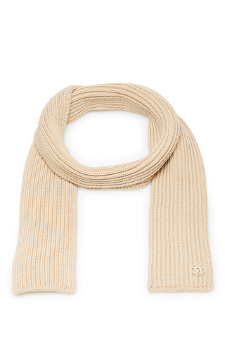 Medium maison michel tan nat knit scarf