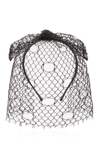 Medium maison michel black tina lace veil