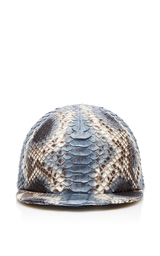 Medium maison michel blue nick python baseball cap