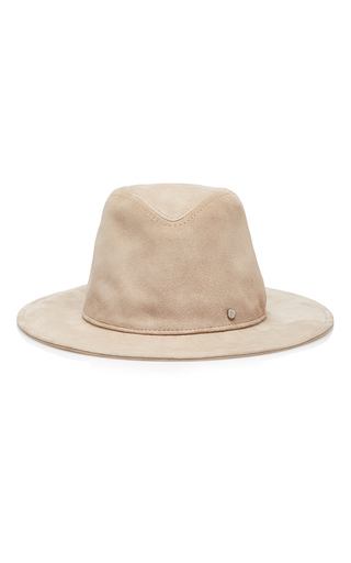 Medium maison michel tan enrico evening leather hat