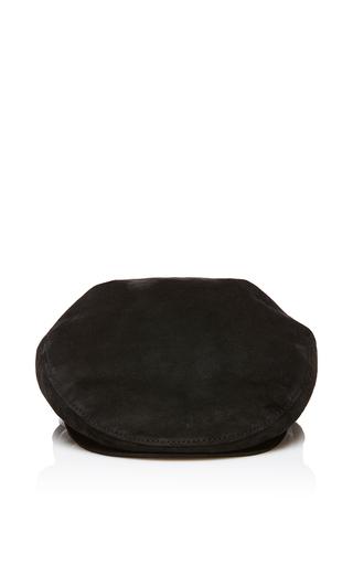 Medium maison michel black glenn evening leather cap