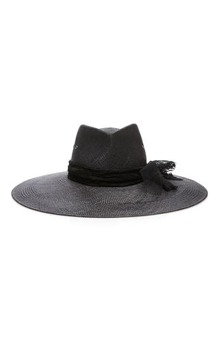 Medium maison michel black pina lace panama hat