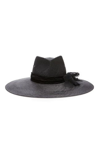 Medium maison michel black pina lace panama hat