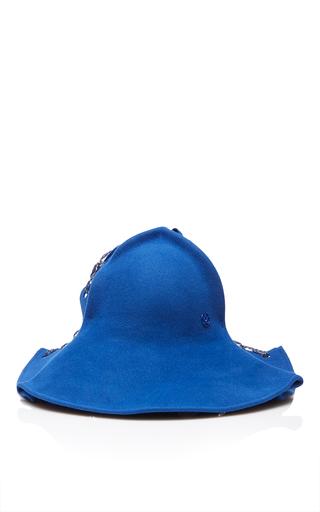 Medium maison michel blue joan interlace hat