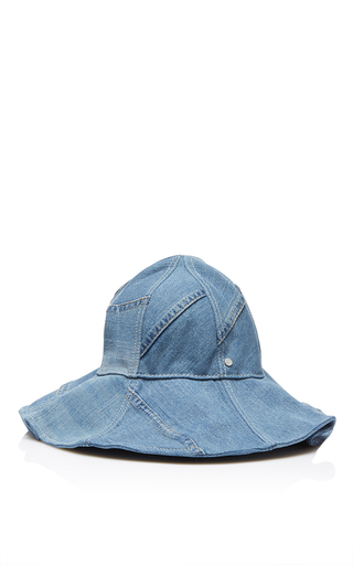 Medium maison michel blue joana denim hat