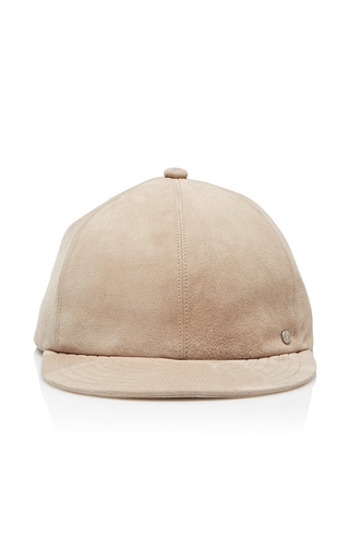 Medium maison michel tan hailey evening leather baseball cap
