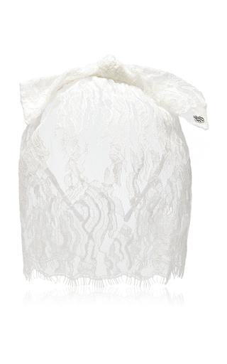 Medium maison michel white tina lace veil 2