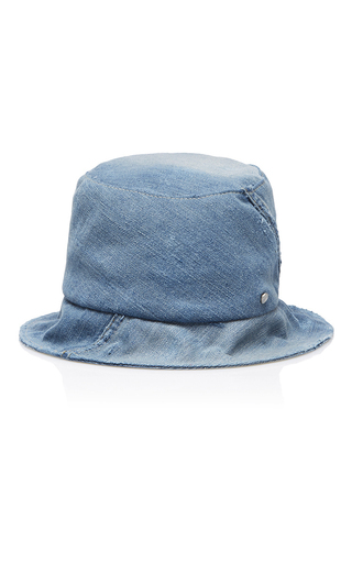 Medium maison michel blue fredo denim hat