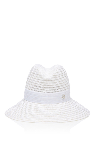 Medium maison michel white ginger straw hat