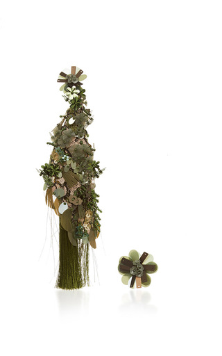 Medium johanna ortiz green fantasy earrings in military green