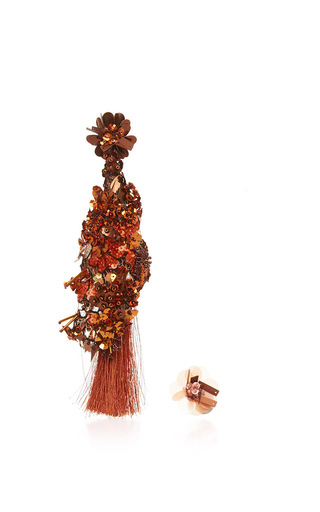 Medium johanna ortiz bronze fantasy earrings in rust