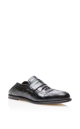 Medium loewe black slip on loafer