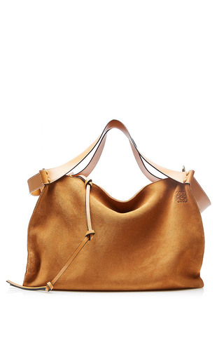 Medium loewe tan cushion cube bag