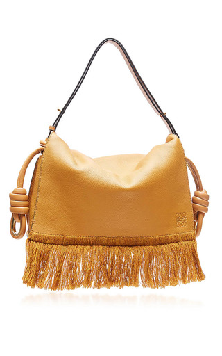 Medium loewe tan flamenco flap bag