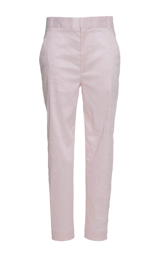 Medium haider ackermann pink tailored low rise trousers