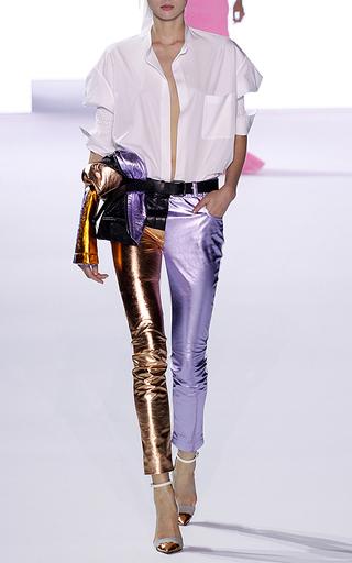 Medium haider ackermann metallic metallic leather panelled trouser