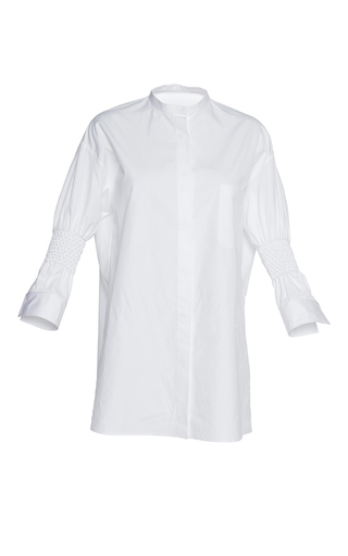 Medium haider ackermann white hand smocked shirt