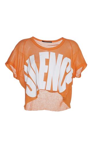 Medium haider ackermann orange cropped silence t shirt