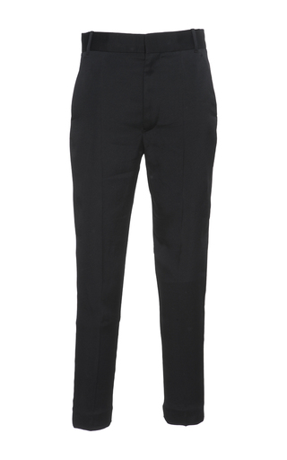 Medium haider ackermann black black low rise trousers