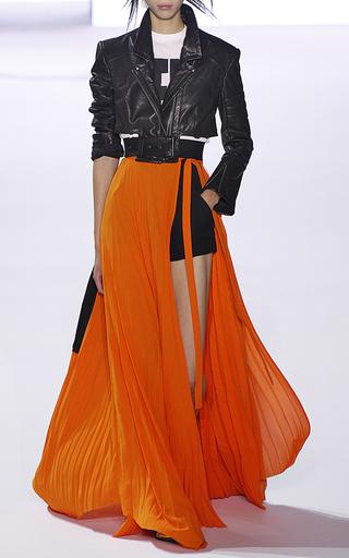 Medium haider ackermann orange geometric plisse skirt