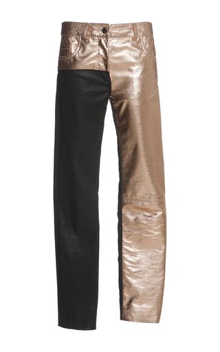 Medium haider ackermann metallic leather panelled trouser