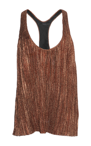 Medium haider ackermann metallic plisse top