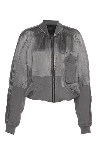 Medium haider ackermann light grey bomber jacket