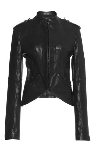 Medium haider ackermann black belted back leather jacket