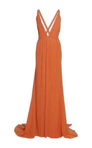 Medium haider ackermann orange plisse wrap dress