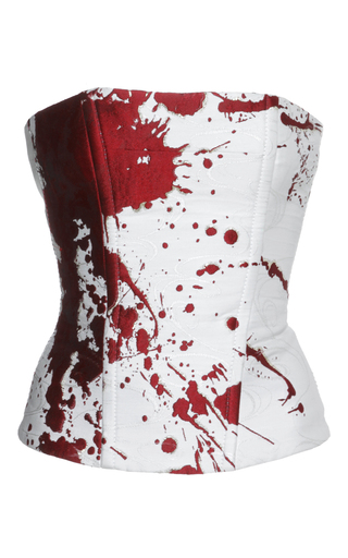 Medium haider ackermann white splatter paint bustier top