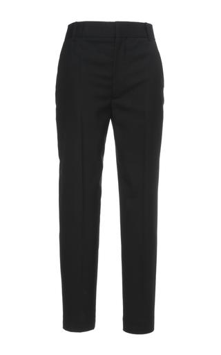 Medium haider ackermann black tailored cropped trousers