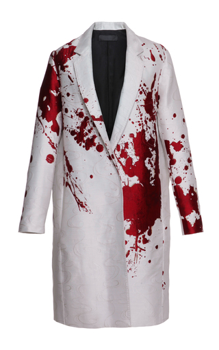 Medium haider ackermann white splatter paint classic coat