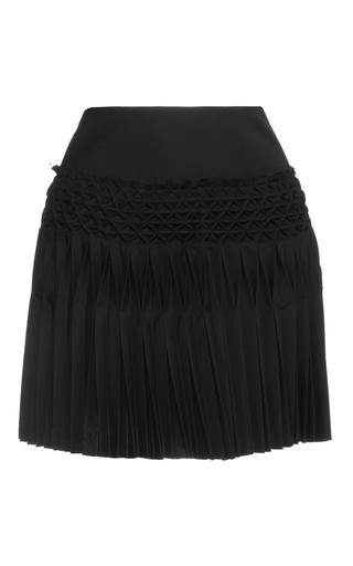Medium haider ackermann black hand smocked mini skirt
